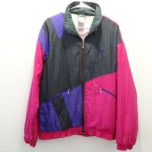 Vintage Puma Color Block Windbreaker Jacket Medium